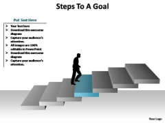 PowerPoint Presentation Company Steps To A Goal Ppt Slide Designs