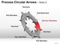 PowerPoint Presentation Company Strategy Process Circular Arrows Ppt Presentation