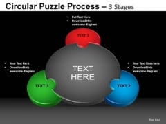 PowerPoint Presentation Cycle Chart Circular Puzzle Ppt Slides