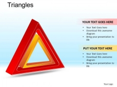 PowerPoint Presentation Designs Business Competition Triangles Ppt Slides