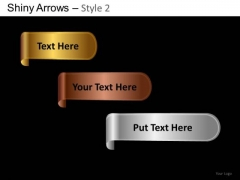 PowerPoint Presentation Designs Business Strategy Shiny Arrows 2 Ppt Slides