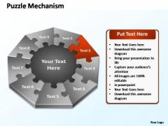 PowerPoint Presentation Designs Chart Puzzle Mechanism Ppt Theme