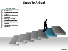 PowerPoint Presentation Designs Company Steps To A Goal Ppt Themes