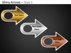 PowerPoint Presentation Designs Company Success Shiny Arrows PowerPoint Templates