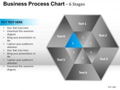 PowerPoint Presentation Designs Diagram Hexagon Pie Chart Ppt Slide