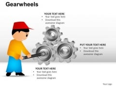 PowerPoint Presentation Designs Editable Gear Wheel Ppt Themes