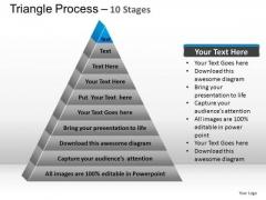 PowerPoint Presentation Designs Editable Triangle Process Ppt Design