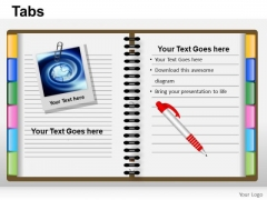PowerPoint Presentation Designs Graphic Tabs Ppt Theme