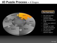 PowerPoint Presentation Designs Growth Pie Chart Puzzle Process Ppt Theme