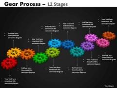 PowerPoint Presentation Designs Leadership Gears Process Ppt Slide
