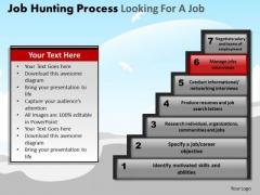 PowerPoint Presentation Designs Leadership Job Hunting Process Ppt Slides