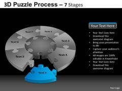PowerPoint Presentation Designs Marketing Pie Chart Puzzle Process Ppt Layouts