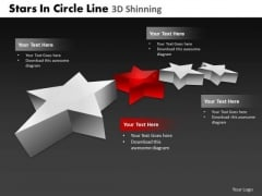 PowerPoint Presentation Designs Sales Stars In Circle Ppt Slides