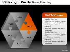 PowerPoint Presentation Designs Strategy Hexagon Puzzle Pieces Ppt Designs