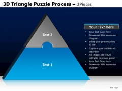 PowerPoint Presentation Designs Strategy Triangle Puzzle Ppt Backgrounds