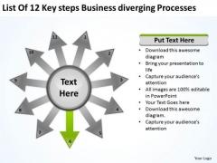 PowerPoint Presentation Diverging Processes Circular Flow Layout Network Slides