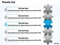 PowerPoint Presentation Editable Business Puzzle List Ppt Slide
