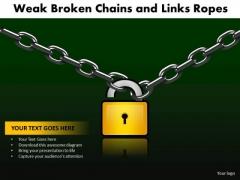 PowerPoint Presentation Education Weak Broken Chains Ppt Designs
