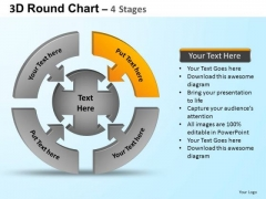 PowerPoint Presentation Global Round Process Flow Chart Ppt Themes