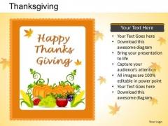 PowerPoint Presentation Graphic Thanksgiving Ppt Theme