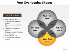 PowerPoint Presentation Growth Four Overlapping Ppt Template