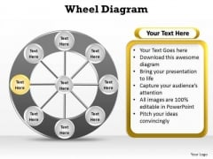 PowerPoint Presentation Growth Wheel Diagram Ppt Slide