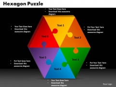 PowerPoint Presentation Hexagon Puzzle Business Ppt Slides