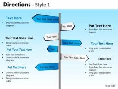 PowerPoint Presentation Marketing Directions Ppt Designs