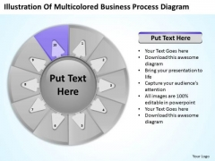 PowerPoint Presentation Process Diagram 10 Stages Business Plan Templates