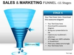 PowerPoint Presentation Slides And Ppt Template Diagram Showing Sales And Marketing Funnel