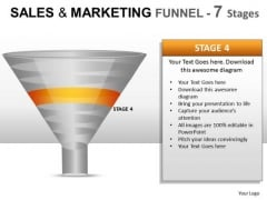 PowerPoint Presentation Slides Showing Sales And Marketing Funnel