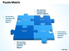 PowerPoint Presentation Strategy 2x2 Rectangular Jigsaw Puzzle Matrix Ppt Slides
