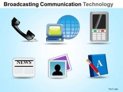 PowerPoint Presentation Strategy Communication Technology Ppt Slides