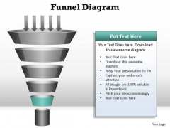 PowerPoint Presentation Strategy Funnel Diagram Ppt Template