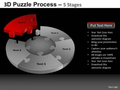 PowerPoint Presentation Strategy Pie Chart Puzzle Process Ppt Themes