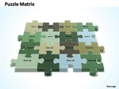 PowerPoint Presentation Success 4x4 Rectangular Jigsaw Puzzle Matrix Ppt Slides