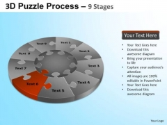 PowerPoint Presentation Teamwork Puzzle Segment Pie Chart Ppt Slide