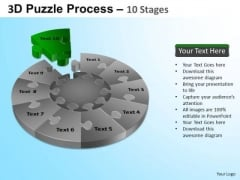 PowerPoint Presentation Teamwork Puzzle Segment Pie Chart Ppt Theme