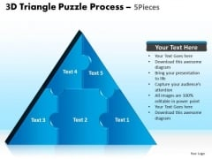 PowerPoint Presentation Teamwork Triangle Puzzle Ppt Slide Designs