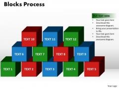 PowerPoint Process Blocks Process Company Ppt Templates