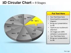 PowerPoint Process Business Circular Ppt Slide