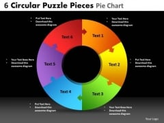 PowerPoint Process Business Circular Puzzle Ppt Slide