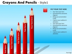 PowerPoint Process Business Education Crayons And Pencils Ppt Layout