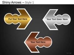 PowerPoint Process Business Education Shiny Arrows Ppt Design Slides