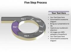 PowerPoint Process Business Five Steps Ppt Presentation