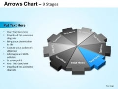 PowerPoint Process Chart Arrows Chart Ppt Slides