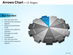 PowerPoint Process Chart Arrows Chart Ppt Template
