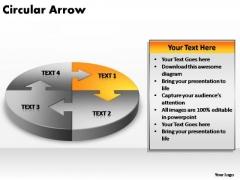 PowerPoint Process Chart Circular Arrow Ppt Design