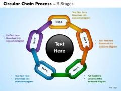 PowerPoint Process Chart Circular Chain Ppt Template