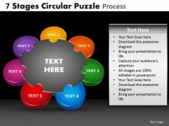 PowerPoint Process Chart Circular Puzzle Ppt Template